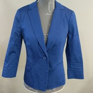 R w & Co bright blue blazer